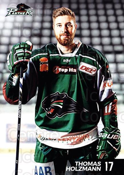 2016-17 German Augsburg Panthers Postcards #12 Thomas Holzmann<br/>2 In Stock - $3.00 each - <a href=https://centericecollectibles.foxycart.com/cart?name=2016-17%20German%20Augsburg%20Panthers%20Postcards%20%2312%20Thomas%20Holzmann...&quantity_max=2&price=$3.00&code=697204 class=foxycart> Buy it now! </a>