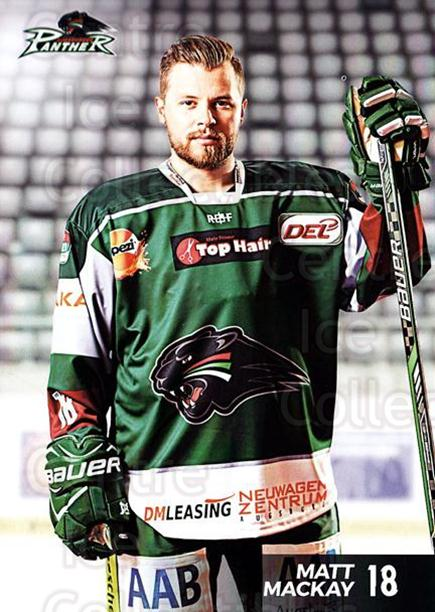 2016-17 German Augsburg Panthers Postcards #13 Matt Mackay<br/>3 In Stock - $3.00 each - <a href=https://centericecollectibles.foxycart.com/cart?name=2016-17%20German%20Augsburg%20Panthers%20Postcards%20%2313%20Matt%20Mackay...&quantity_max=3&price=$3.00&code=697205 class=foxycart> Buy it now! </a>