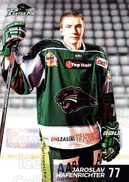 2016-17 German Augsburg Panthers Postcards #19 Jaroslav Hafenrichter<br/>3 In Stock - $3.00 each - <a href=https://centericecollectibles.foxycart.com/cart?name=2016-17%20German%20Augsburg%20Panthers%20Postcards%20%2319%20Jaroslav%20Hafenr...&quantity_max=3&price=$3.00&code=697211 class=foxycart> Buy it now! </a>