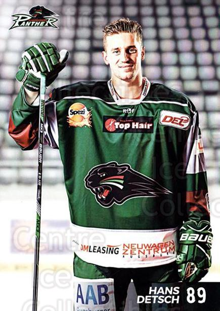 2016-17 German Augsburg Panthers Postcards #21 Hans Detsch<br/>3 In Stock - $3.00 each - <a href=https://centericecollectibles.foxycart.com/cart?name=2016-17%20German%20Augsburg%20Panthers%20Postcards%20%2321%20Hans%20Detsch...&quantity_max=3&price=$3.00&code=697213 class=foxycart> Buy it now! </a>