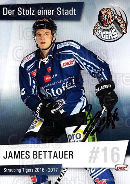 2016-17 German Straubing Tigers Postcards #8 James Bettauer<br/>1 In Stock - $3.00 each - <a href=https://centericecollectibles.foxycart.com/cart?name=2016-17%20German%20Straubing%20Tigers%20Postcards%20%238%20James%20Bettauer...&quantity_max=1&price=$3.00&code=697254 class=foxycart> Buy it now! </a>