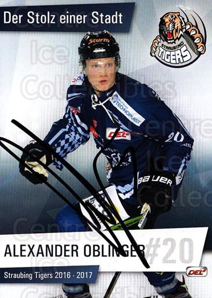 2016-17 German Straubing Tigers Postcards #11 Alexander Oblinger<br/>1 In Stock - $3.00 each - <a href=https://centericecollectibles.foxycart.com/cart?name=2016-17%20German%20Straubing%20Tigers%20Postcards%20%2311%20Alexander%20Oblin...&quantity_max=1&price=$3.00&code=697257 class=foxycart> Buy it now! </a>
