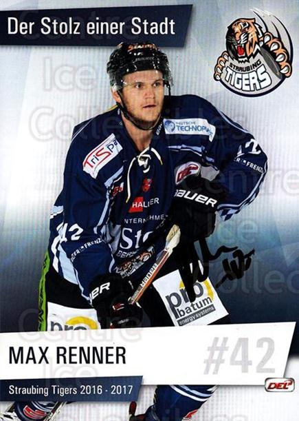 2016-17 German Straubing Tigers Postcards #20 Max Renner<br/>1 In Stock - $3.00 each - <a href=https://centericecollectibles.foxycart.com/cart?name=2016-17%20German%20Straubing%20Tigers%20Postcards%20%2320%20Max%20Renner...&quantity_max=1&price=$3.00&code=697266 class=foxycart> Buy it now! </a>