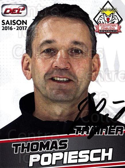 2016-17 German Fischtown Penguins Postcards #1 Thomas Popiesch<br/>1 In Stock - $3.00 each - <a href=https://centericecollectibles.foxycart.com/cart?name=2016-17%20German%20Fischtown%20Penguins%20Postcards%20%231%20Thomas%20Popiesch...&quantity_max=1&price=$3.00&code=697269 class=foxycart> Buy it now! </a>