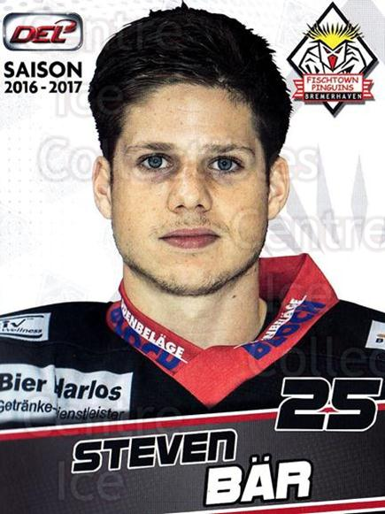 2016-17 German Fischtown Penguins Postcards #27 Steven Bar<br/>1 In Stock - $3.00 each - <a href=https://centericecollectibles.foxycart.com/cart?name=2016-17%20German%20Fischtown%20Penguins%20Postcards%20%2327%20Steven%20Bar...&quantity_max=1&price=$3.00&code=697295 class=foxycart> Buy it now! </a>