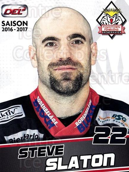 2016-17 German Fischtown Penguins Postcards #28 Steve Slaton<br/>1 In Stock - $3.00 each - <a href=https://centericecollectibles.foxycart.com/cart?name=2016-17%20German%20Fischtown%20Penguins%20Postcards%20%2328%20Steve%20Slaton...&quantity_max=1&price=$3.00&code=697296 class=foxycart> Buy it now! </a>