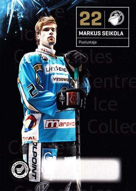 2011-12 Finnish Pelicans Postcards #13 Markus Seikola<br/>1 In Stock - $3.00 each - <a href=https://centericecollectibles.foxycart.com/cart?name=2011-12%20Finnish%20Pelicans%20Postcards%20%2313%20Markus%20Seikola...&quantity_max=1&price=$3.00&code=697427 class=foxycart> Buy it now! </a>