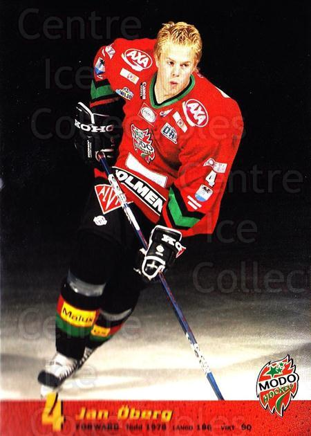 2004-05 Swedish MODO Hockey Postcards #2 Jan Oberg<br/>2 In Stock - $3.00 each - <a href=https://centericecollectibles.foxycart.com/cart?name=2004-05%20Swedish%20MODO%20Hockey%20Postcards%20%232%20Jan%20Oberg...&quantity_max=2&price=$3.00&code=697517 class=foxycart> Buy it now! </a>