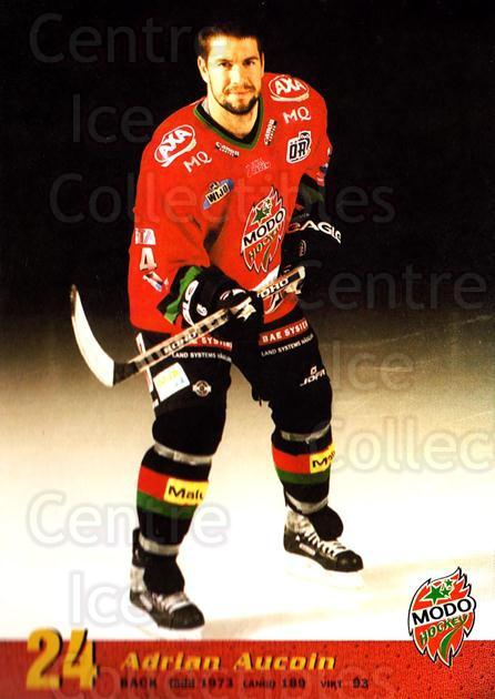 2004-05 Swedish MODO Hockey Postcards #17 Adrian Aucoin<br/>2 In Stock - $3.00 each - <a href=https://centericecollectibles.foxycart.com/cart?name=2004-05%20Swedish%20MODO%20Hockey%20Postcards%20%2317%20Adrian%20Aucoin...&quantity_max=2&price=$3.00&code=697522 class=foxycart> Buy it now! </a>