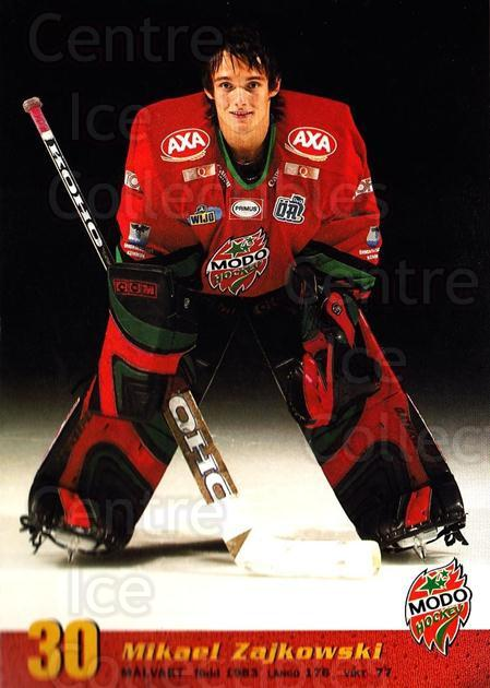 2004-05 Swedish MODO Hockey Postcards #21 Mikael Zajkowski<br/>1 In Stock - $3.00 each - <a href=https://centericecollectibles.foxycart.com/cart?name=2004-05%20Swedish%20MODO%20Hockey%20Postcards%20%2321%20Mikael%20Zajkowsk...&quantity_max=1&price=$3.00&code=697523 class=foxycart> Buy it now! </a>