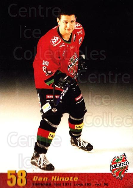 2004-05 Swedish MODO Hockey Postcards #29 Dan Hinote<br/>2 In Stock - $3.00 each - <a href=https://centericecollectibles.foxycart.com/cart?name=2004-05%20Swedish%20MODO%20Hockey%20Postcards%20%2329%20Dan%20Hinote...&quantity_max=2&price=$3.00&code=697525 class=foxycart> Buy it now! </a>