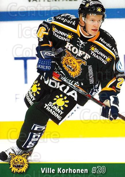 2007-08 Finnish Ilves Tampere Postcards #5 Ville Korhonen<br/>3 In Stock - $3.00 each - <a href=https://centericecollectibles.foxycart.com/cart?name=2007-08%20Finnish%20Ilves%20Tampere%20Postcards%20%235%20Ville%20Korhonen...&quantity_max=3&price=$3.00&code=697570 class=foxycart> Buy it now! </a>