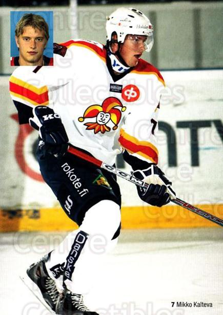 2004-05 Finnish Jokerit Helsinki Postcards #2 Mikko Kalteva<br/>1 In Stock - $3.00 each - <a href=https://centericecollectibles.foxycart.com/cart?name=2004-05%20Finnish%20Jokerit%20Helsinki%20Postcards%20%232%20Mikko%20Kalteva...&price=$3.00&code=697596 class=foxycart> Buy it now! </a>