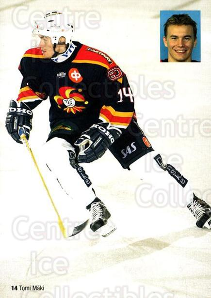 2004-05 Finnish Jokerit Helsinki Postcards #4 Tomi Maki<br/>1 In Stock - $3.00 each - <a href=https://centericecollectibles.foxycart.com/cart?name=2004-05%20Finnish%20Jokerit%20Helsinki%20Postcards%20%234%20Tomi%20Maki...&price=$3.00&code=697598 class=foxycart> Buy it now! </a>
