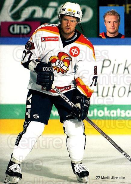 2005-06 Finnish Jokerit Helsinki Postcards #15 Martti Jarventie<br/>1 In Stock - $3.00 each - <a href=https://centericecollectibles.foxycart.com/cart?name=2005-06%20Finnish%20Jokerit%20Helsinki%20Postcards%20%2315%20Martti%20Jarventi...&price=$3.00&code=697622 class=foxycart> Buy it now! </a>