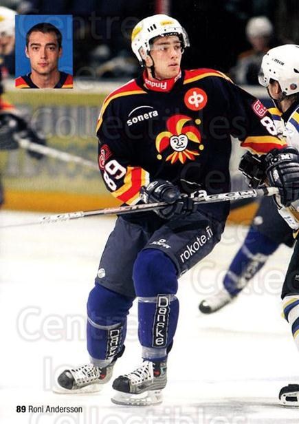 2005-06 Finnish Jokerit Helsinki Postcards #16 Roni Andersson<br/>1 In Stock - $3.00 each - <a href=https://centericecollectibles.foxycart.com/cart?name=2005-06%20Finnish%20Jokerit%20Helsinki%20Postcards%20%2316%20Roni%20Andersson...&price=$3.00&code=697623 class=foxycart> Buy it now! </a>