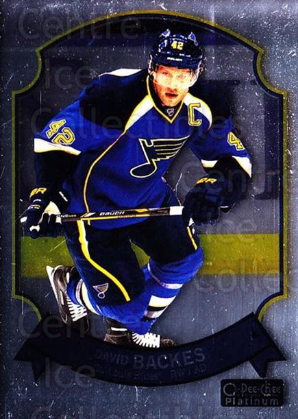 2014-15 O-Pee-Chee Platinum Retro #6 David Backes<br/>3 In Stock - $2.00 each - <a href=https://centericecollectibles.foxycart.com/cart?name=2014-15%20O-Pee-Chee%20Platinum%20Retro%20%236%20David%20Backes...&quantity_max=3&price=$2.00&code=697629 class=foxycart> Buy it now! </a>