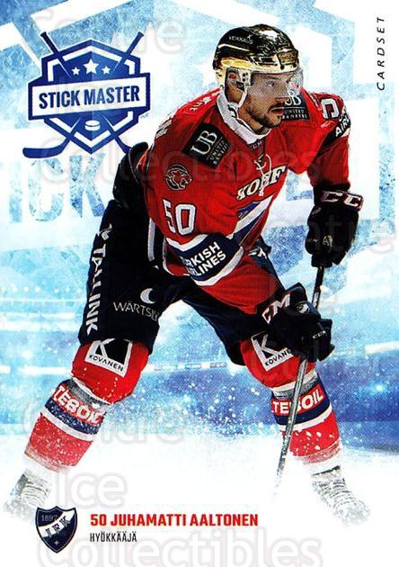 2016-17 Finnish Cardset Stick Master #1 Juhamatti Aaltonen<br/>4 In Stock - $3.00 each - <a href=https://centericecollectibles.foxycart.com/cart?name=2016-17%20Finnish%20Cardset%20Stick%20Master%20%231%20Juhamatti%20Aalto...&quantity_max=4&price=$3.00&code=697922 class=foxycart> Buy it now! </a>