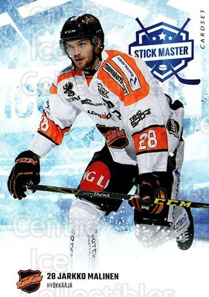 2016-17 Finnish Cardset Stick Master #7 Jarkko Malinen<br/>5 In Stock - $3.00 each - <a href=https://centericecollectibles.foxycart.com/cart?name=2016-17%20Finnish%20Cardset%20Stick%20Master%20%237%20Jarkko%20Malinen...&quantity_max=5&price=$3.00&code=697928 class=foxycart> Buy it now! </a>