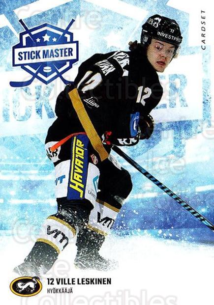 2016-17 Finnish Cardset Stick Master #8 Ville Leskinen<br/>5 In Stock - $3.00 each - <a href=https://centericecollectibles.foxycart.com/cart?name=2016-17%20Finnish%20Cardset%20Stick%20Master%20%238%20Ville%20Leskinen...&quantity_max=5&price=$3.00&code=697929 class=foxycart> Buy it now! </a>