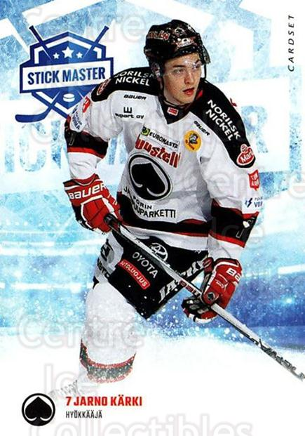 2016-17 Finnish Cardset Stick Master #15 Jarno Karki<br/>6 In Stock - $3.00 each - <a href=https://centericecollectibles.foxycart.com/cart?name=2016-17%20Finnish%20Cardset%20Stick%20Master%20%2315%20Jarno%20Karki...&quantity_max=6&price=$3.00&code=697936 class=foxycart> Buy it now! </a>