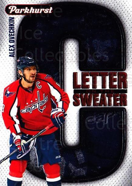 2016-17 Parkhurst Letter On The Sweater #7 Alexander Ovechkin<br/>1 In Stock - $3.00 each - <a href=https://centericecollectibles.foxycart.com/cart?name=2016-17%20Parkhurst%20Letter%20On%20The%20Sweater%20%237%20Alexander%20Ovech...&price=$3.00&code=697953 class=foxycart> Buy it now! </a>