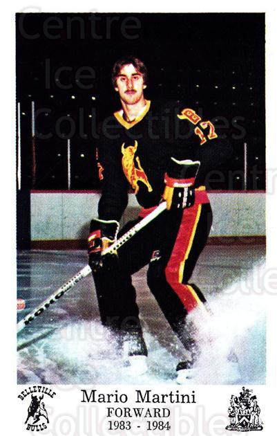 1983-84 Belleville Bulls #15 Mario Martini<br/>1 In Stock - $3.00 each - <a href=https://centericecollectibles.foxycart.com/cart?name=1983-84%20Belleville%20Bulls%20%2315%20Mario%20Martini...&price=$3.00&code=698001 class=foxycart> Buy it now! </a>