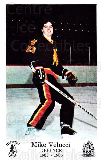 1983-84 Belleville Bulls #17 Mike Vellucci<br/>1 In Stock - $3.00 each - <a href=https://centericecollectibles.foxycart.com/cart?name=1983-84%20Belleville%20Bulls%20%2317%20Mike%20Vellucci...&price=$3.00&code=698003 class=foxycart> Buy it now! </a>