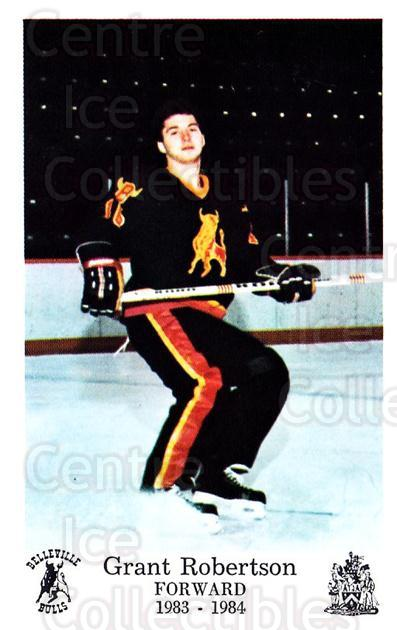 1983-84 Belleville Bulls #23 Grant Robertson<br/>1 In Stock - $3.00 each - <a href=https://centericecollectibles.foxycart.com/cart?name=1983-84%20Belleville%20Bulls%20%2323%20Grant%20Robertson...&price=$3.00&code=698009 class=foxycart> Buy it now! </a>
