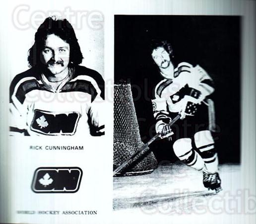 1972-73 Ottawa Nationals WHA #8 Rick Cunningham<br/>1 In Stock - $5.00 each - <a href=https://centericecollectibles.foxycart.com/cart?name=1972-73%20Ottawa%20Nationals%20WHA%20%238%20Rick%20Cunningham...&quantity_max=1&price=$5.00&code=698036 class=foxycart> Buy it now! </a>