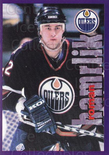 1998-99 Panini Stickers #196 Roman Hamrlik<br/>4 In Stock - $1.00 each - <a href=https://centericecollectibles.foxycart.com/cart?name=1998-99%20Panini%20Stickers%20%23196%20Roman%20Hamrlik...&quantity_max=4&price=$1.00&code=69833 class=foxycart> Buy it now! </a>
