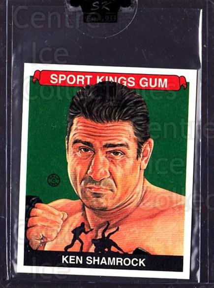 2009 Sportkings Mini #127 Ken Shamrock<br/>1 In Stock - $10.00 each - <a href=https://centericecollectibles.foxycart.com/cart?name=2009%20Sportkings%20Mini%20%23127%20Ken%20Shamrock...&price=$10.00&code=698344 class=foxycart> Buy it now! </a>
