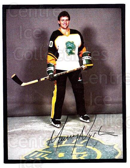 1985-86 London Knights #6 Murray Nystrom<br/>2 In Stock - $3.00 each - <a href=https://centericecollectibles.foxycart.com/cart?name=1985-86%20London%20Knights%20%236%20Murray%20Nystrom...&quantity_max=2&price=$3.00&code=698471 class=foxycart> Buy it now! </a>