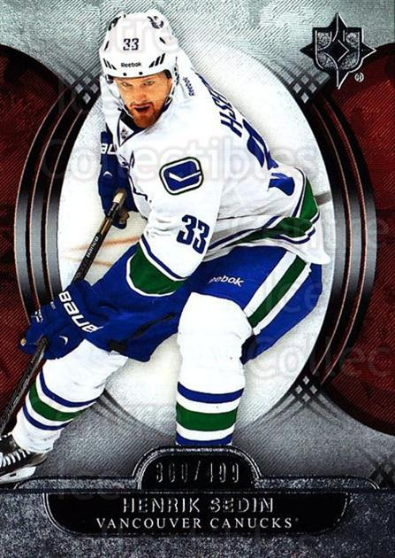 2013-14 UD Ultimate Collection #26 Henrik Sedin<br/>1 In Stock - $5.00 each - <a href=https://centericecollectibles.foxycart.com/cart?name=2013-14%20UD%20Ultimate%20Collection%20%2326%20Henrik%20Sedin...&quantity_max=1&price=$5.00&code=699140 class=foxycart> Buy it now! </a>