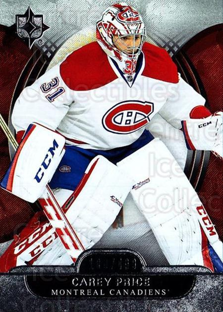 2013-14 UD Ultimate Collection #36 Carey Price<br/>1 In Stock - $10.00 each - <a href=https://centericecollectibles.foxycart.com/cart?name=2013-14%20UD%20Ultimate%20Collection%20%2336%20Carey%20Price...&price=$10.00&code=699150 class=foxycart> Buy it now! </a>