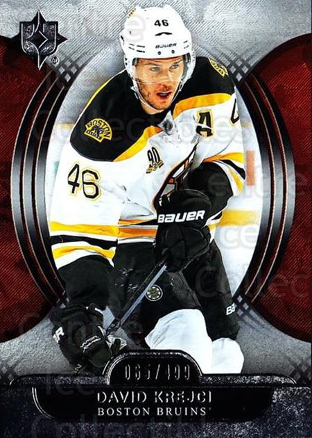 2013-14 UD Ultimate Collection #39 David Krejci<br/>1 In Stock - $5.00 each - <a href=https://centericecollectibles.foxycart.com/cart?name=2013-14%20UD%20Ultimate%20Collection%20%2339%20David%20Krejci...&quantity_max=1&price=$5.00&code=699153 class=foxycart> Buy it now! </a>