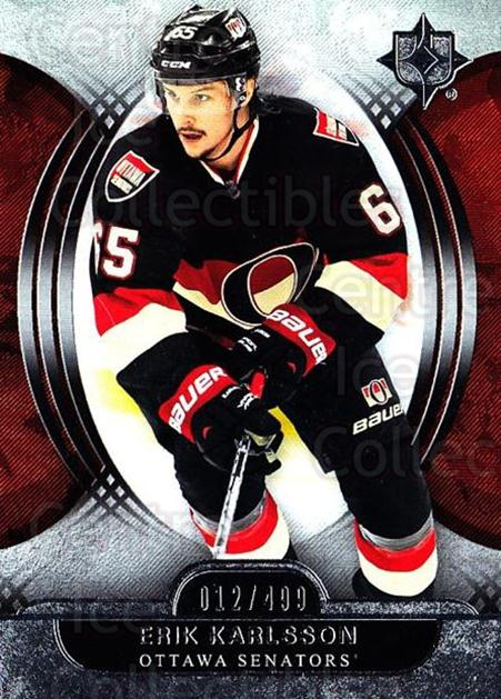 2013-14 UD Ultimate Collection #60 Erik Karlsson<br/>1 In Stock - $5.00 each - <a href=https://centericecollectibles.foxycart.com/cart?name=2013-14%20UD%20Ultimate%20Collection%20%2360%20Erik%20Karlsson...&quantity_max=1&price=$5.00&code=699174 class=foxycart> Buy it now! </a>