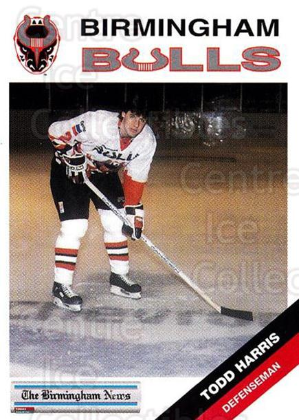 1993-94 Birmingham Bulls #10 Todd Harris<br/>1 In Stock - $3.00 each - <a href=https://centericecollectibles.foxycart.com/cart?name=1993-94%20Birmingham%20Bulls%20%2310%20Todd%20Harris...&quantity_max=1&price=$3.00&code=699304 class=foxycart> Buy it now! </a>