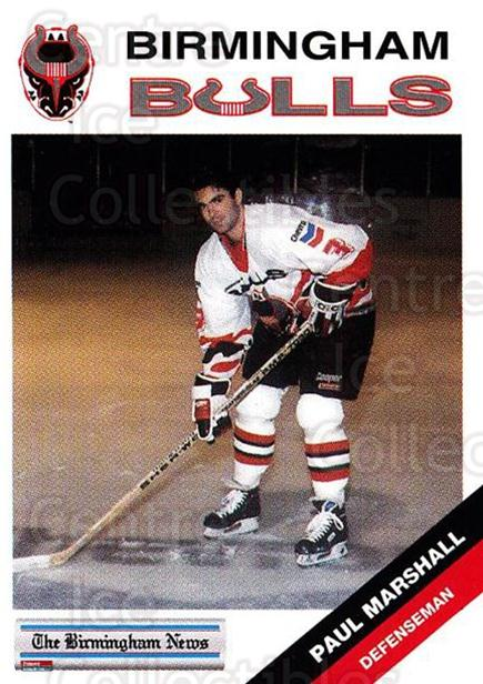 1993-94 Birmingham Bulls #13 Paul Marshall<br/>1 In Stock - $3.00 each - <a href=https://centericecollectibles.foxycart.com/cart?name=1993-94%20Birmingham%20Bulls%20%2313%20Paul%20Marshall...&quantity_max=1&price=$3.00&code=699307 class=foxycart> Buy it now! </a>
