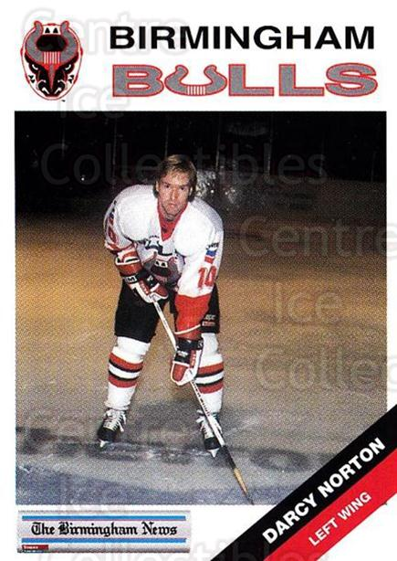 1993-94 Birmingham Bulls #17 Darcy Norton<br/>1 In Stock - $3.00 each - <a href=https://centericecollectibles.foxycart.com/cart?name=1993-94%20Birmingham%20Bulls%20%2317%20Darcy%20Norton...&quantity_max=1&price=$3.00&code=699311 class=foxycart> Buy it now! </a>