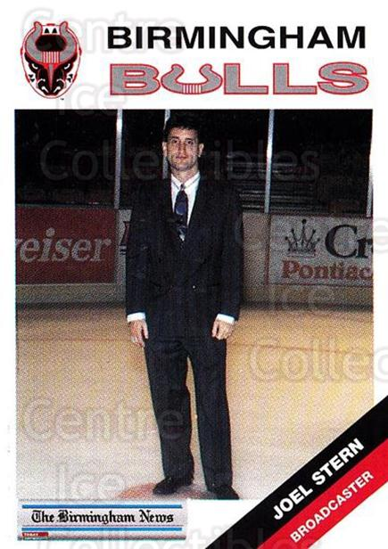 1993-94 Birmingham Bulls #25 Joel Stern<br/>1 In Stock - $3.00 each - <a href=https://centericecollectibles.foxycart.com/cart?name=1993-94%20Birmingham%20Bulls%20%2325%20Joel%20Stern...&quantity_max=1&price=$3.00&code=699319 class=foxycart> Buy it now! </a>