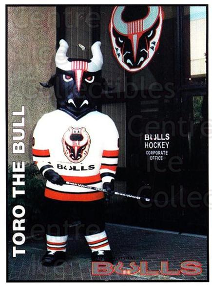 1995-96 Birmingham Bulls #1 Mascot, Checklist<br/>1 In Stock - $3.00 each - <a href=https://centericecollectibles.foxycart.com/cart?name=1995-96%20Birmingham%20Bulls%20%231%20Mascot,%20Checkli...&quantity_max=1&price=$3.00&code=699322 class=foxycart> Buy it now! </a>