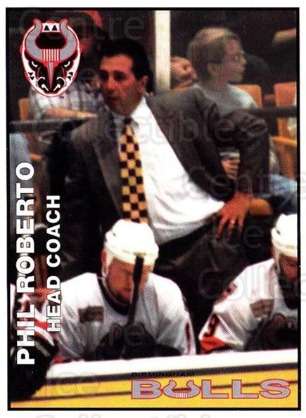 1995-96 Birmingham Bulls #2 Phil Roberto<br/>2 In Stock - $3.00 each - <a href=https://centericecollectibles.foxycart.com/cart?name=1995-96%20Birmingham%20Bulls%20%232%20Phil%20Roberto...&quantity_max=2&price=$3.00&code=699323 class=foxycart> Buy it now! </a>
