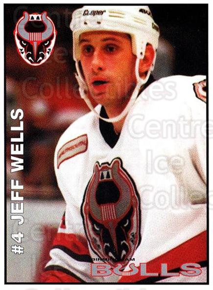 1995-96 Birmingham Bulls #4 Jeff Wells<br/>1 In Stock - $3.00 each - <a href=https://centericecollectibles.foxycart.com/cart?name=1995-96%20Birmingham%20Bulls%20%234%20Jeff%20Wells...&quantity_max=1&price=$3.00&code=699325 class=foxycart> Buy it now! </a>
