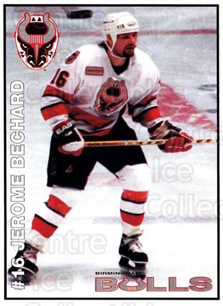 1995-96 Birmingham Bulls #14 Jerome Bechard<br/>1 In Stock - $3.00 each - <a href=https://centericecollectibles.foxycart.com/cart?name=1995-96%20Birmingham%20Bulls%20%2314%20Jerome%20Bechard...&quantity_max=1&price=$3.00&code=699335 class=foxycart> Buy it now! </a>