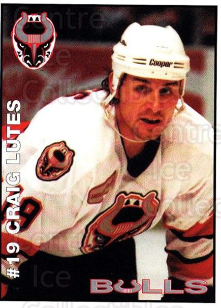 1995-96 Birmingham Bulls #15 Craig Lutes<br/>1 In Stock - $3.00 each - <a href=https://centericecollectibles.foxycart.com/cart?name=1995-96%20Birmingham%20Bulls%20%2315%20Craig%20Lutes...&quantity_max=1&price=$3.00&code=699336 class=foxycart> Buy it now! </a>