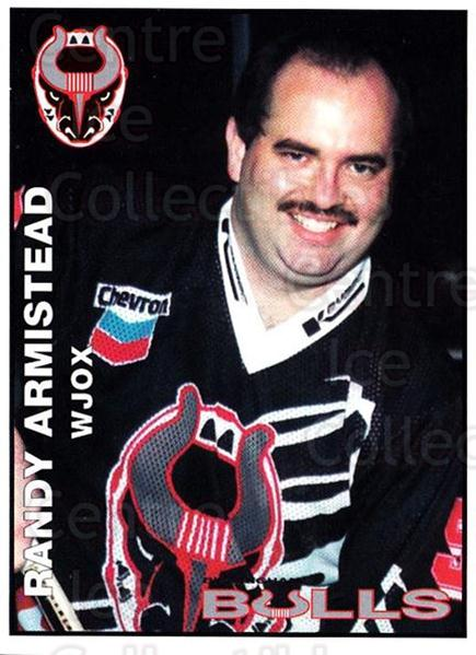1995-96 Birmingham Bulls #26 Randy Armistead<br/>2 In Stock - $3.00 each - <a href=https://centericecollectibles.foxycart.com/cart?name=1995-96%20Birmingham%20Bulls%20%2326%20Randy%20Armistead...&quantity_max=2&price=$3.00&code=699347 class=foxycart> Buy it now! </a>