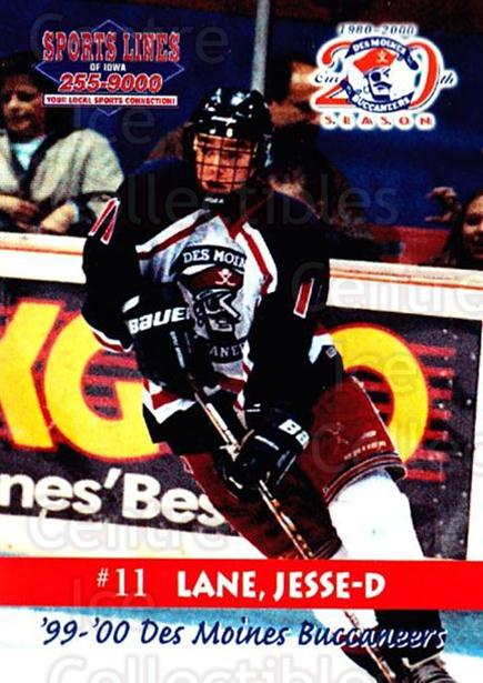 1999-00 Des Moines Buccaneers #8 Jesse Lane<br/>1 In Stock - $3.00 each - <a href=https://centericecollectibles.foxycart.com/cart?name=1999-00%20Des%20Moines%20Buccaneers%20%238%20Jesse%20Lane...&price=$3.00&code=699417 class=foxycart> Buy it now! </a>