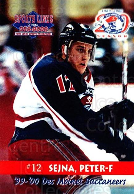 1999-00 Des Moines Buccaneers #9 Peter Sejna<br/>1 In Stock - $3.00 each - <a href=https://centericecollectibles.foxycart.com/cart?name=1999-00%20Des%20Moines%20Buccaneers%20%239%20Peter%20Sejna...&price=$3.00&code=699418 class=foxycart> Buy it now! </a>