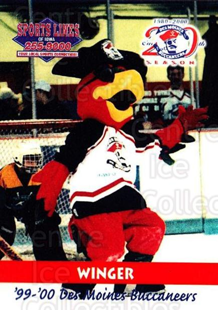 1999-00 Des Moines Buccaneers #24 Mascot<br/>1 In Stock - $3.00 each - <a href=https://centericecollectibles.foxycart.com/cart?name=1999-00%20Des%20Moines%20Buccaneers%20%2324%20Mascot...&quantity_max=1&price=$3.00&code=699433 class=foxycart> Buy it now! </a>
